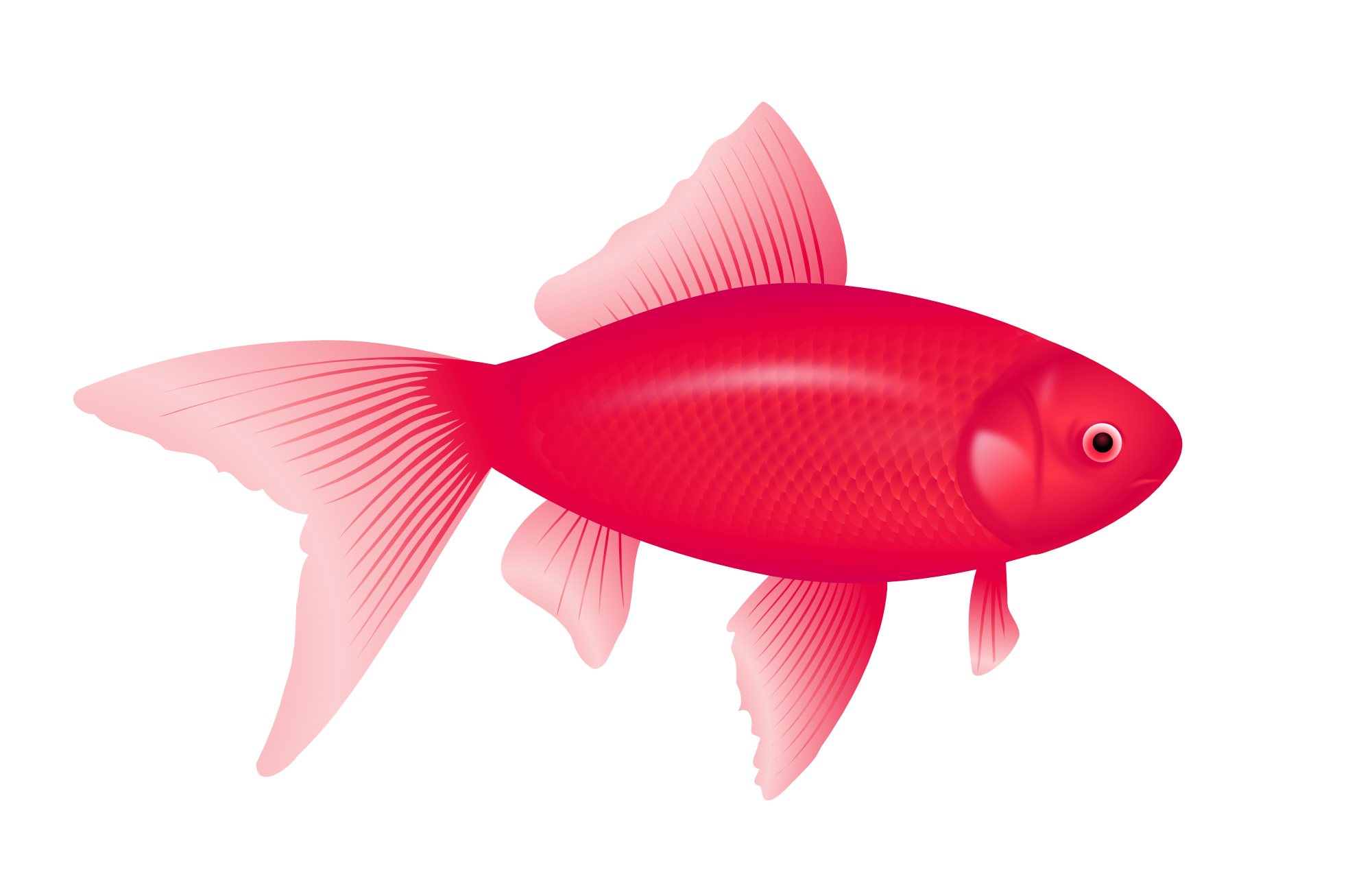 One two red blue. Cute purple fish clipart
