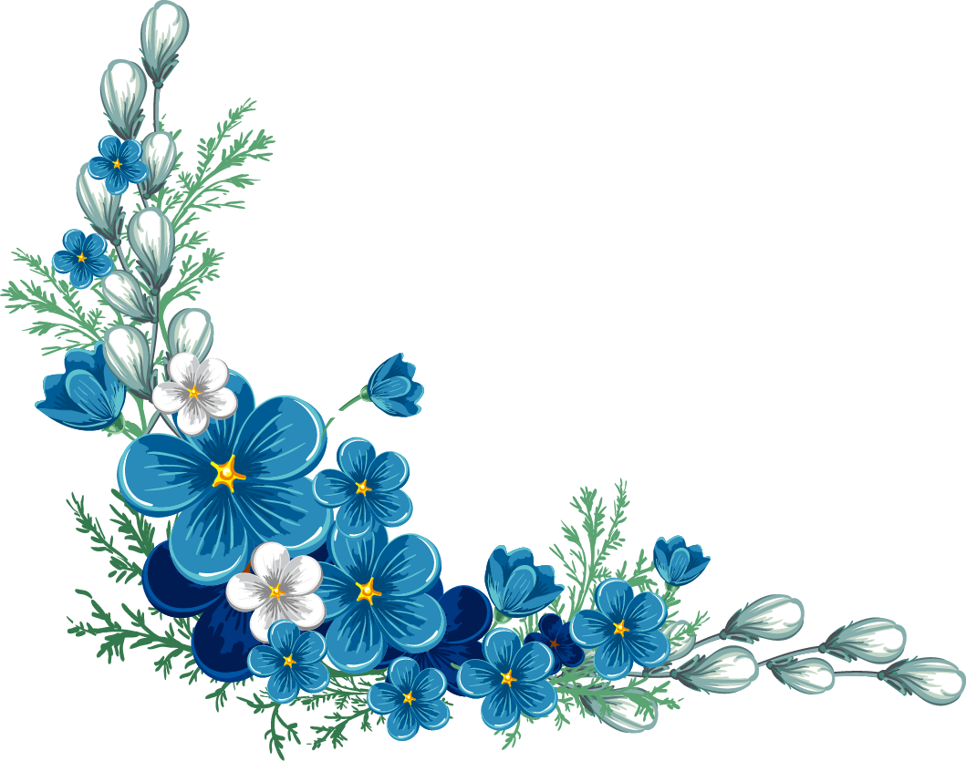 Blue flower border clipart svg royalty free stock Blue Flowers Border PNG svg royalty free stock