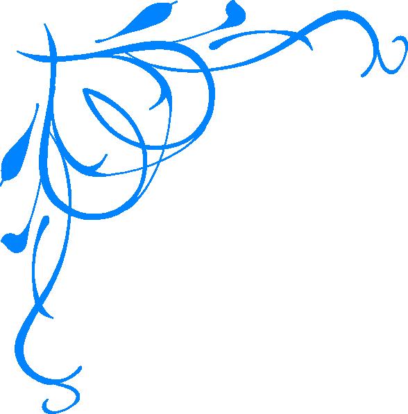 Blue flower border clipart image royalty free stock Blue Clip Art at Clker.com - vector clip art online, royalty free ... image royalty free stock