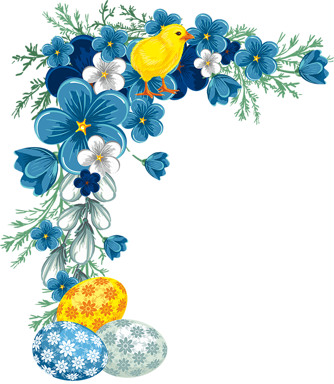 Easter flower clipart jpg freeuse download EASTER CORNER / BORDER | FRAMES / BORDERS / CORNERS | Pinterest ... jpg freeuse download
