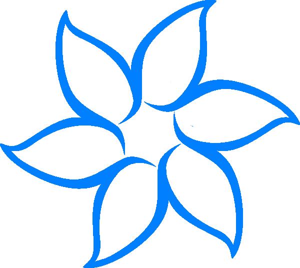 Blue flower border clipart vector royalty free download Blue Flower Outline Clip Art at Clker.com - vector clip art online ... vector royalty free download
