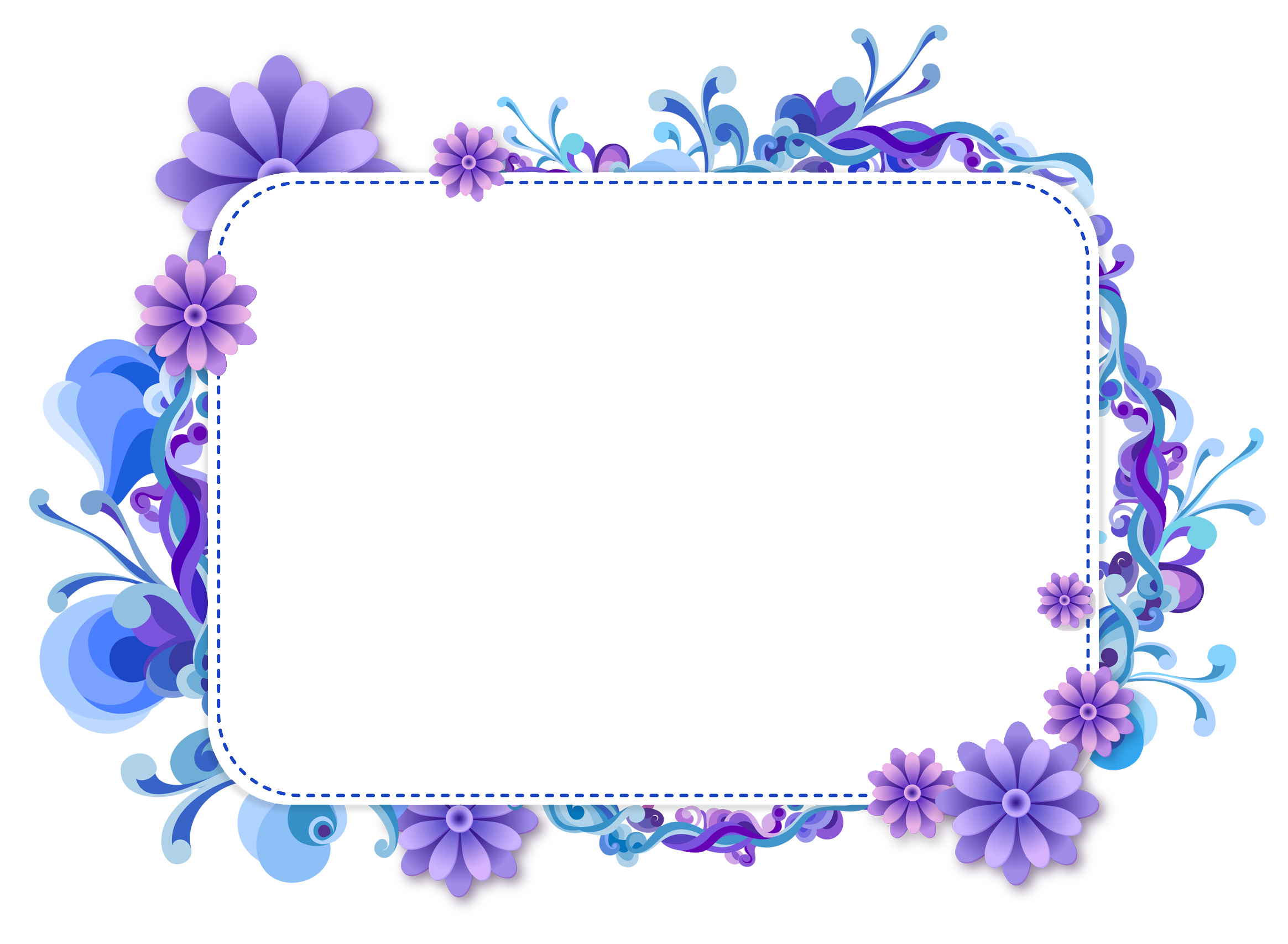 Blue flower border clipart clipart download Picture Frames Clip art - blue flower border 2329*1707 transprent ... clipart download