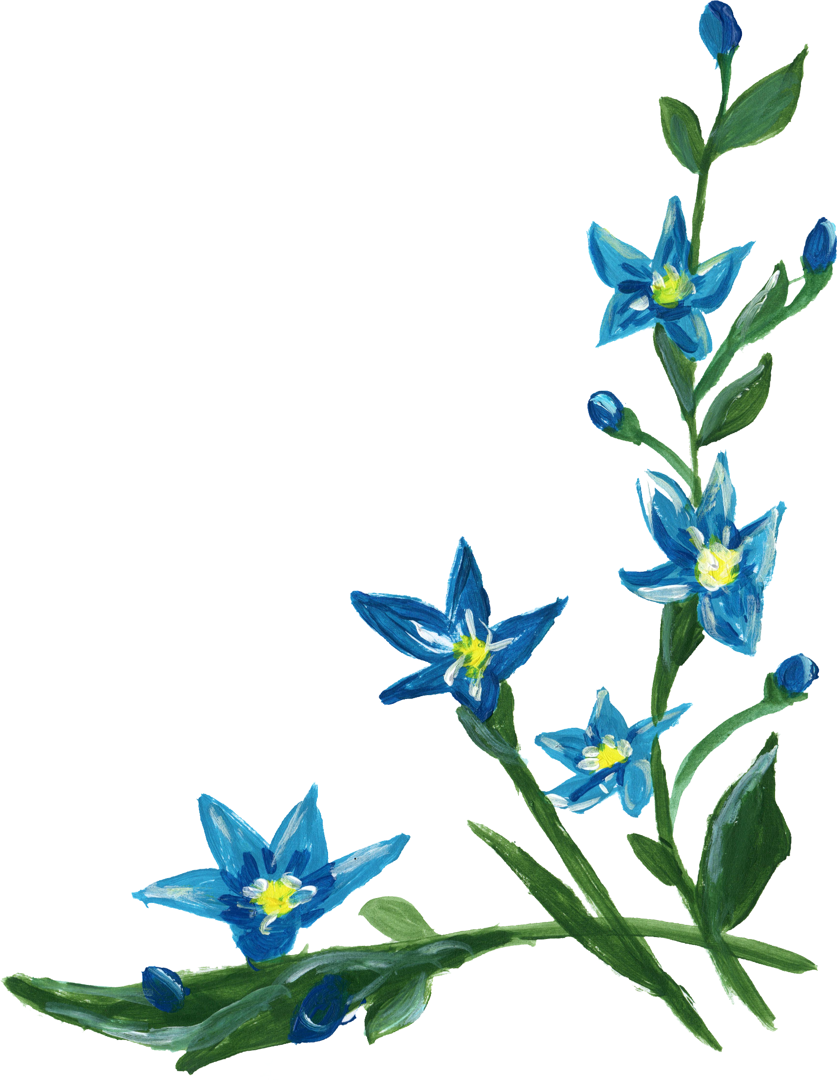 Blue flower border clipart jpg library library Flower Clip art - blue flower border 1717*2214 transprent Png Free ... jpg library library