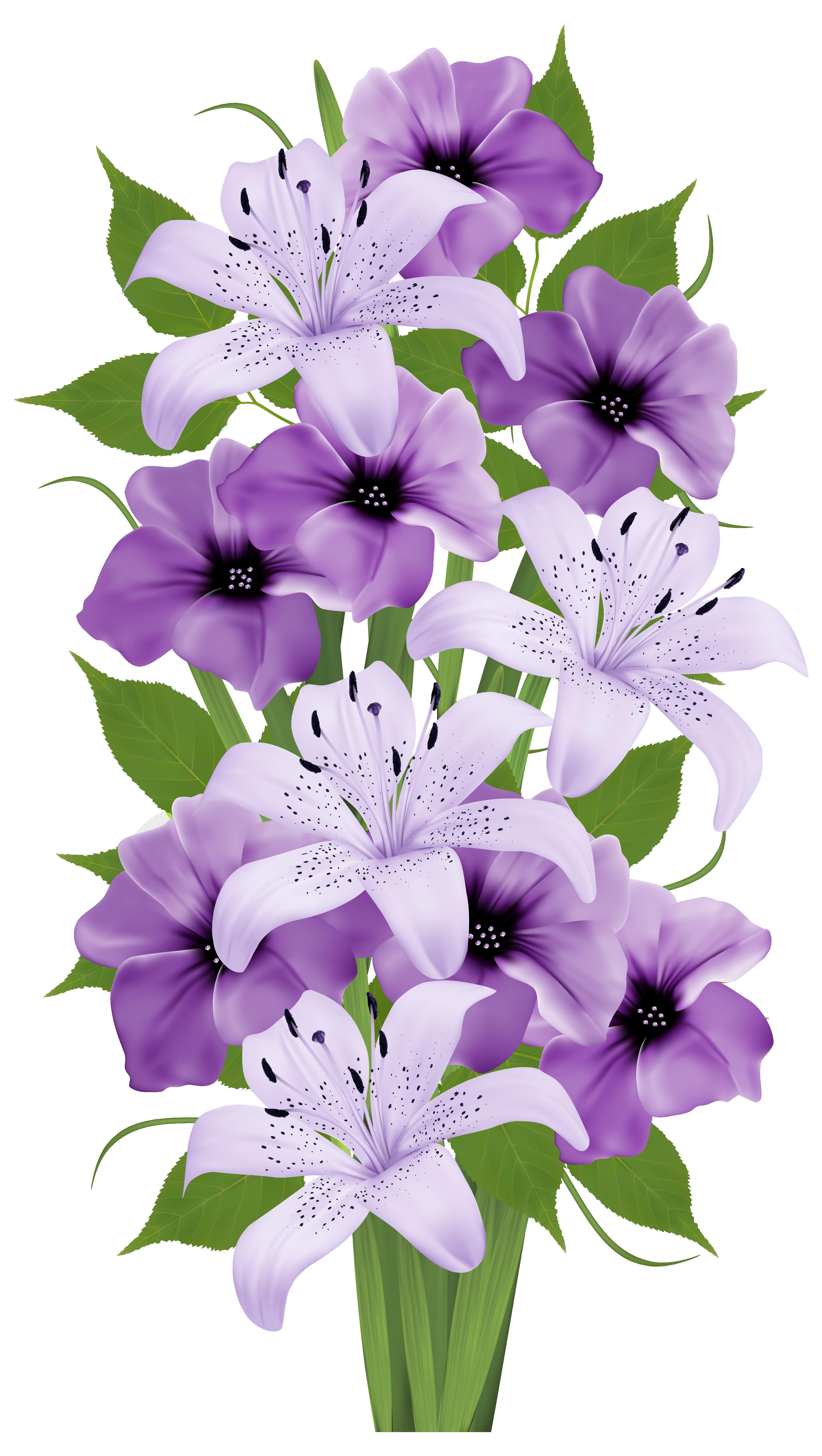 Blue flower bouquet clipart clip download Exotic Flowers Bouquet PNG Clipart Image | ÇİÇEKLER | Pinterest ... clip download