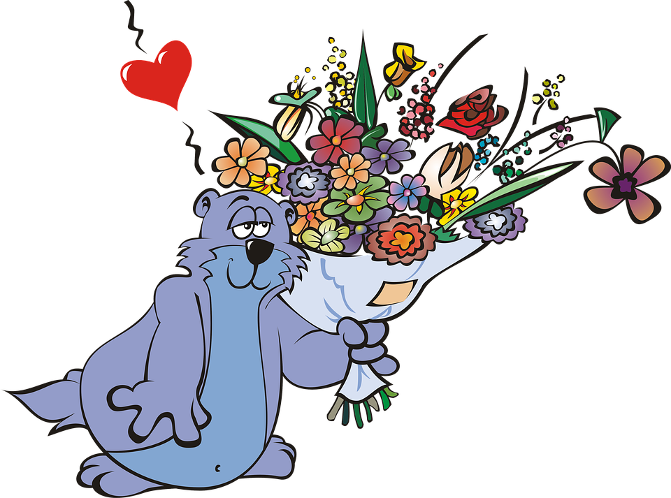Blue flower bouquet clipart vector black and white download Free photo Rodent Blue Violet Flowers Bouquet Mammal Marmot - Max Pixel vector black and white download
