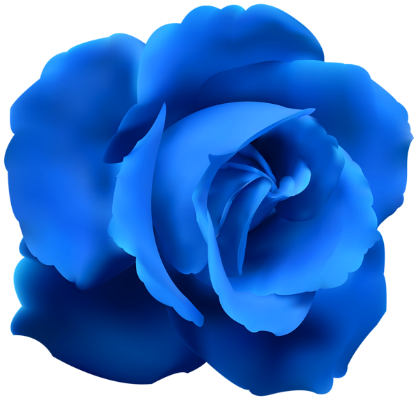 Blue flower clipart free library Blue Rose Clip Art PNG Image   paper   Pinterest   Blue roses, Clip ... free library