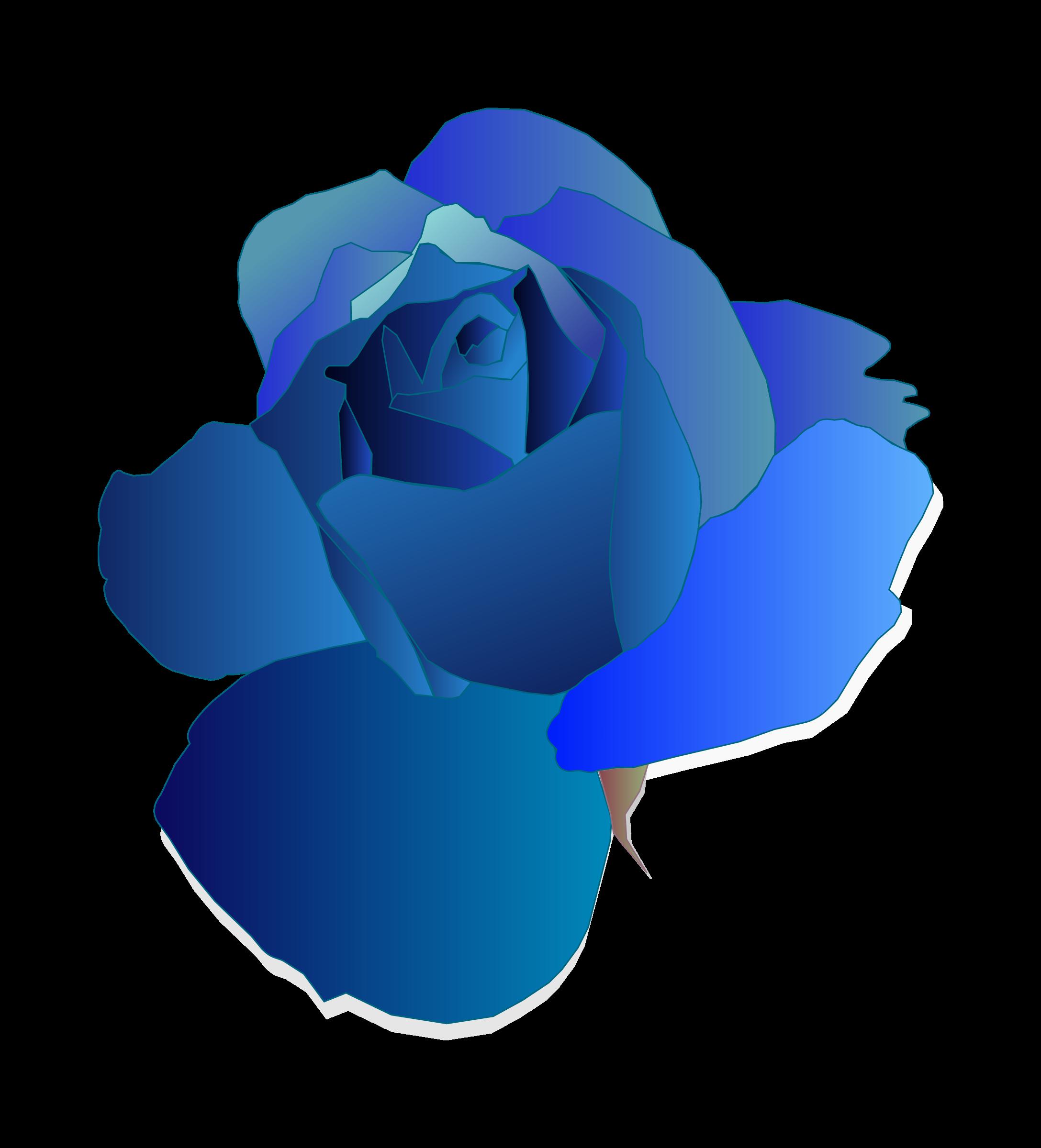Blue flower clipart jpg freeuse stock Clipart - Blue Rose jpg freeuse stock