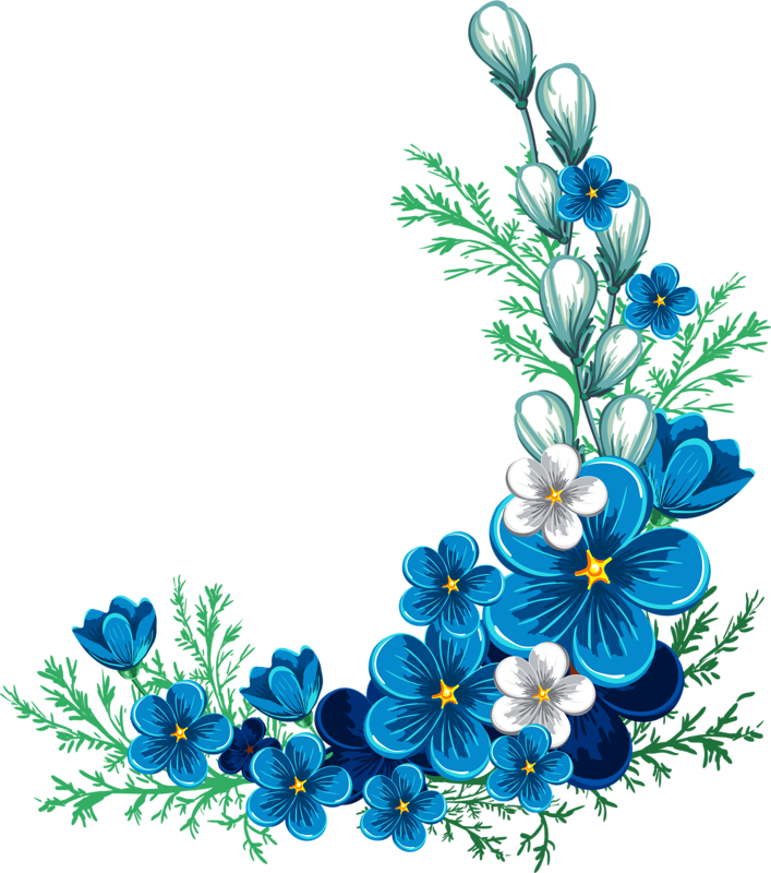 Blue jasmine flower clipart vector free download 8678 (5).png | Pinterest | Flowers, Decoupage and Flower vector free download