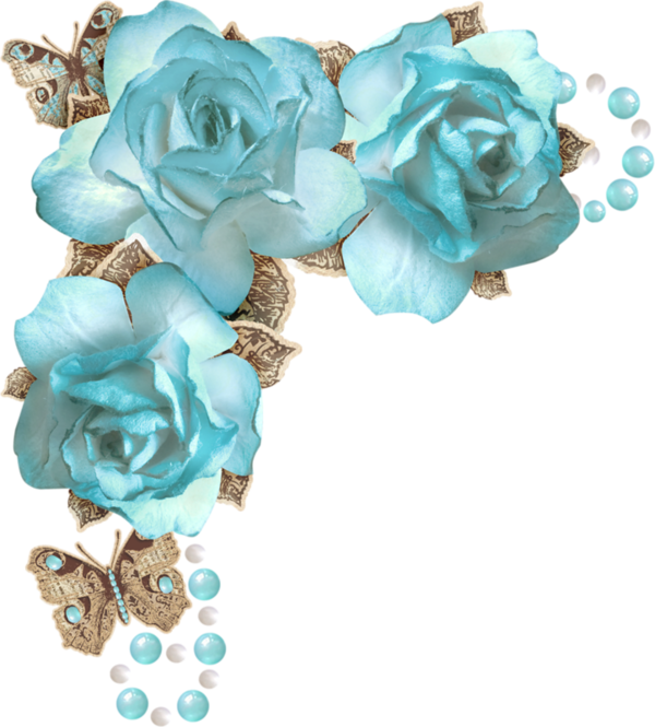 Blue flower clipart border clip black and white library ForgetMeNot: Scrap - corners | TODO VINTAGE | Pinterest | Corner ... clip black and white library