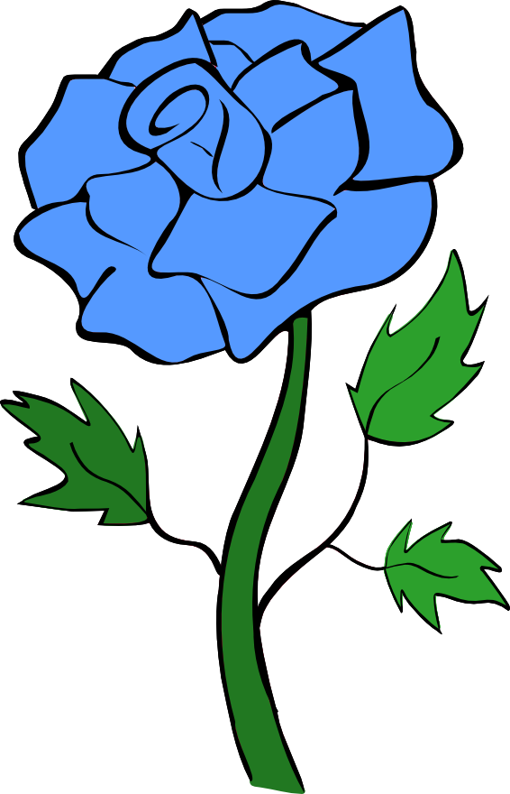Clipart of rose flower vector royalty free library Blue Rose Flower Clipart vector royalty free library