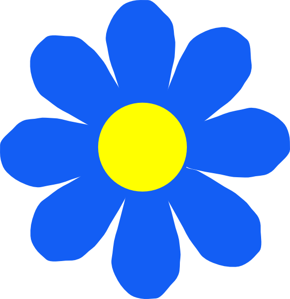 Clipart flower images clipart royalty free stock Blue Flower Clip Art at Clker.com - vector clip art online, royalty ... clipart royalty free stock