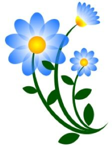 Blue flower clipart images banner free free clipart blue flowers   Products I Love   Flower clipart, Blue ... banner free