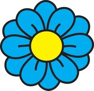 Blue flower clipart images clip art Flower Clipart Image: clip art illustration of a blue flower with a ... clip art