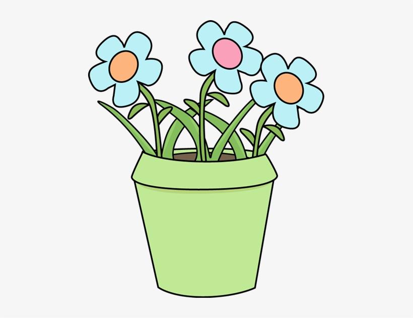 Blue flower pot clipart clip art stock Flower Pot With Blue Flowers Clip Art - Pot Of Flowers Clipart ... clip art stock