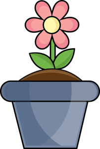 Blue flower pot clipart png library stock Free Free Flower Pot Pictures 0515-1103-2603-0620 | Pictures Flowers png library stock