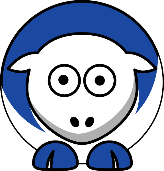 Sheep - Central Connecticut State Blue Devils - Team Colors ... clip art freeuse stock