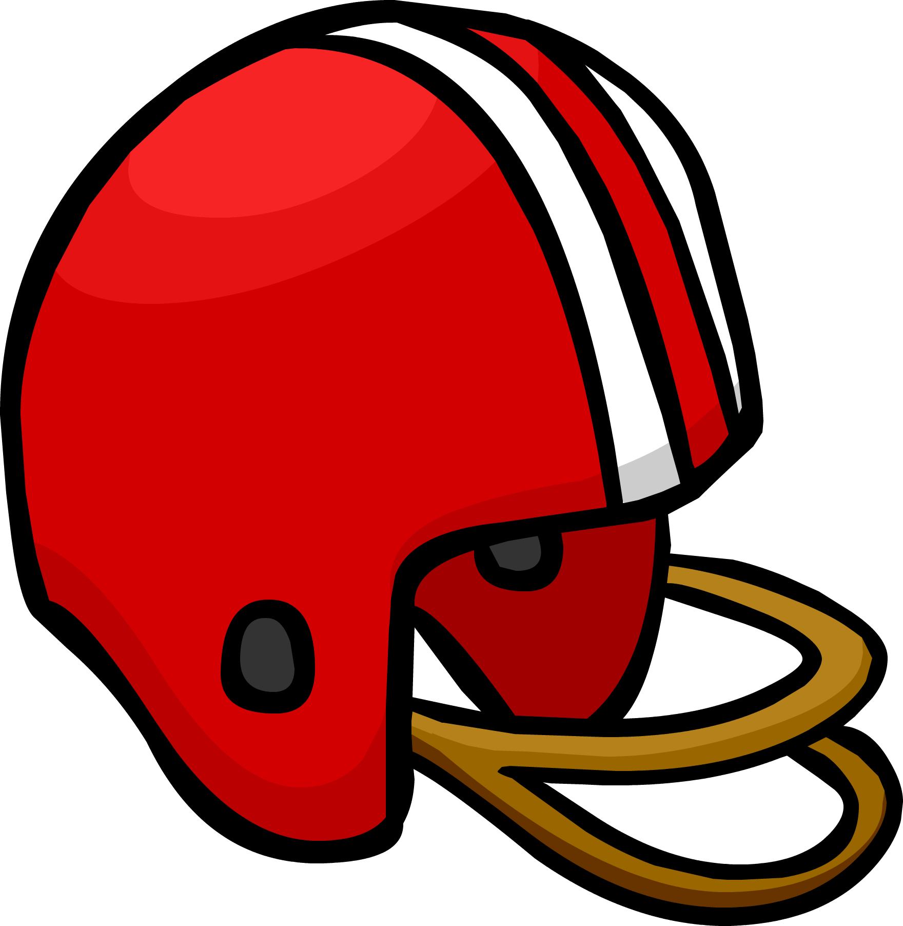 Red club penguin wiki. Football helmet clipart front