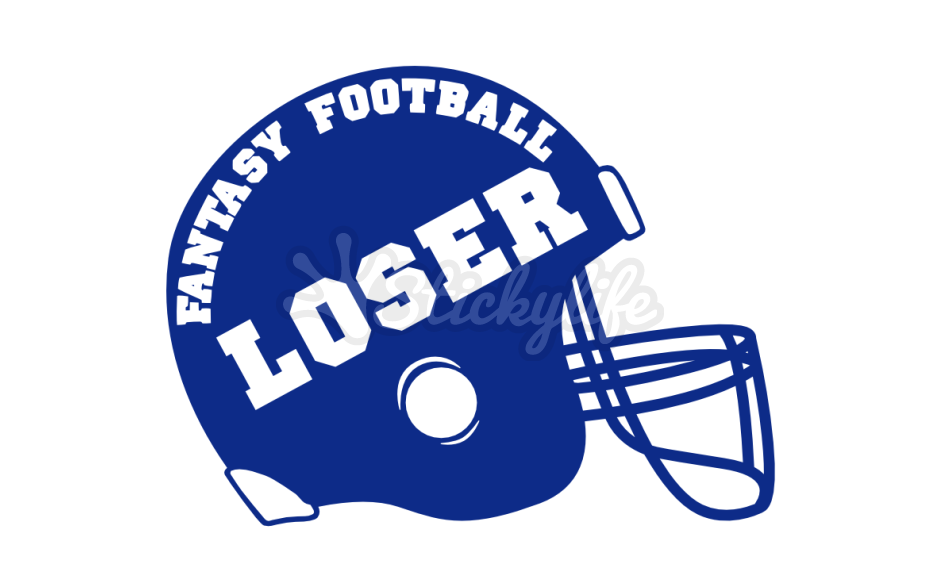 Fantasy loser car magnet. Football helmet clipart front