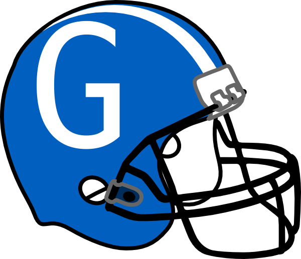 Front view football helmet clipart png library stock Football Helmet Blue G Clip Art at Clker.com - vector clip art ... png library stock