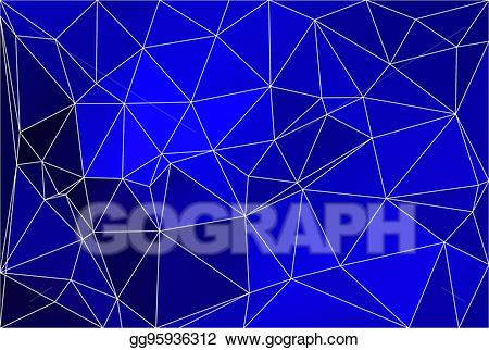Blue geometric background clipart image freeuse Clip Art Vector - Dark blue geometric background with mesh. Stock ... image freeuse