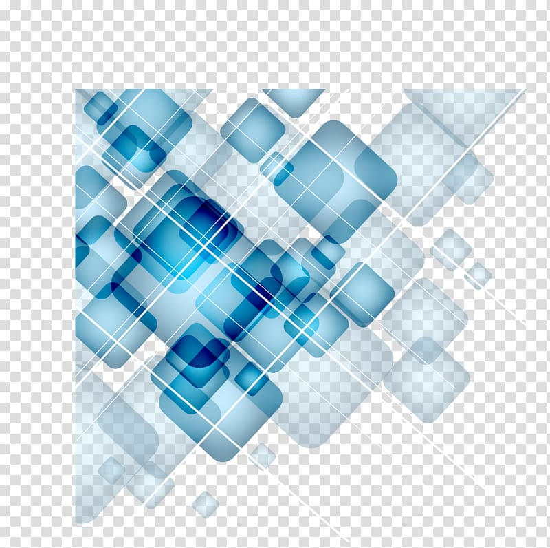 Digital background clipart png royalty free download Blue , Square, Digital Technology blue geometric squares gradient ... png royalty free download