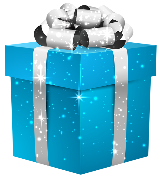 Retro gift box clipart clipart Blue Shining Gift Box with silver Bow | Clipart and Wallpaper ... clipart