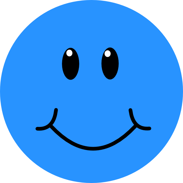 Blue happy face clipart graphic transparent library Blue Smiley Face Clip Art N14 free image graphic transparent library
