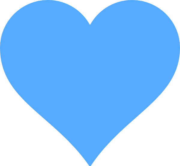 Heart clipart blue banner free stock Blue Heart Clipart | Clipart Panda - Free Clipart Images banner free stock