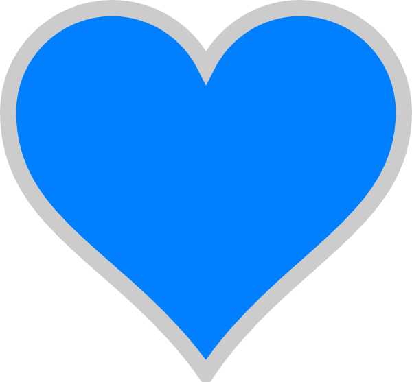 Heart clipart no background jpg royalty free Blue Heart Transparent Clipart jpg royalty free