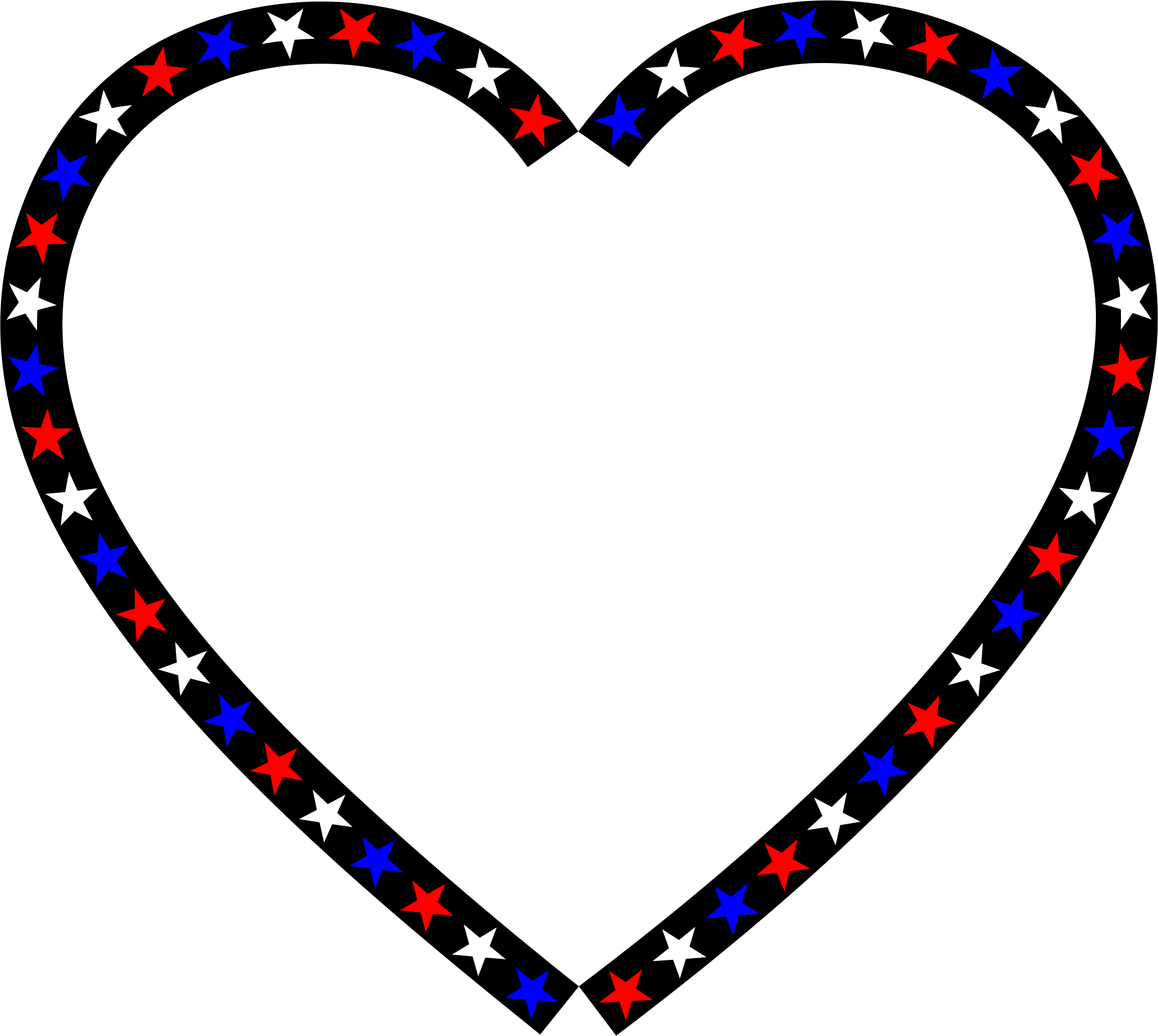Clipart - Red White Blue Heart graphic library stock