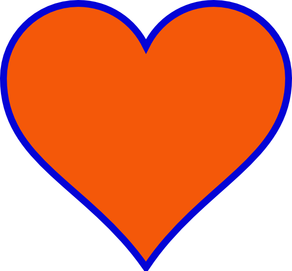Clipart small heart jpg Orange & Blue Heart Clip Art at Clker.com - vector clip art online ... jpg