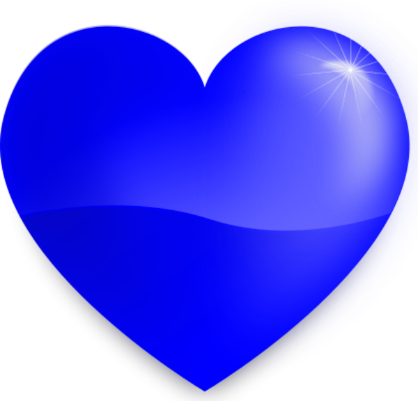 28+ Collection of Blue Heart Clipart Png   High quality, free ... image free stock