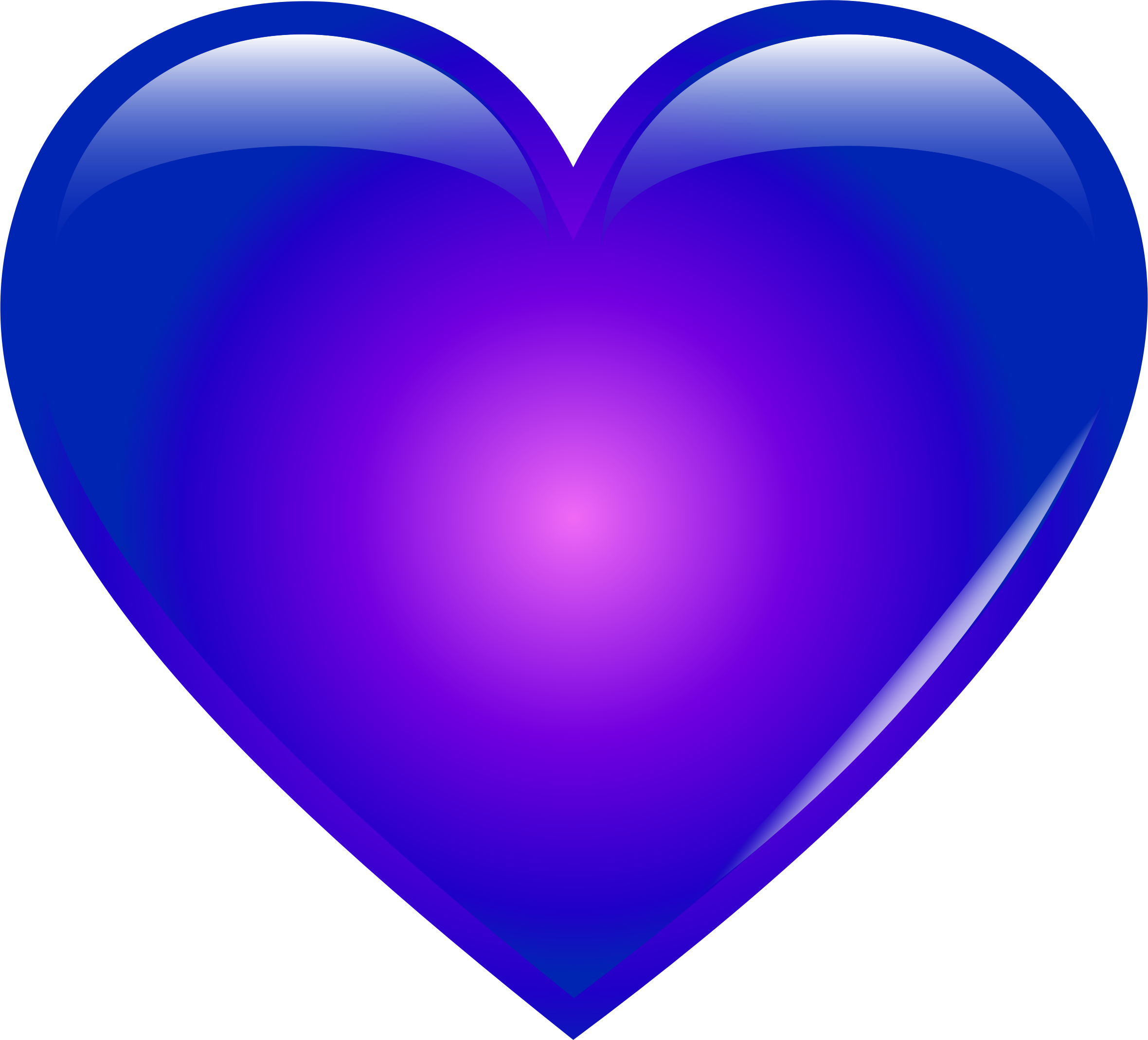 Clipart - Blue Heart picture free