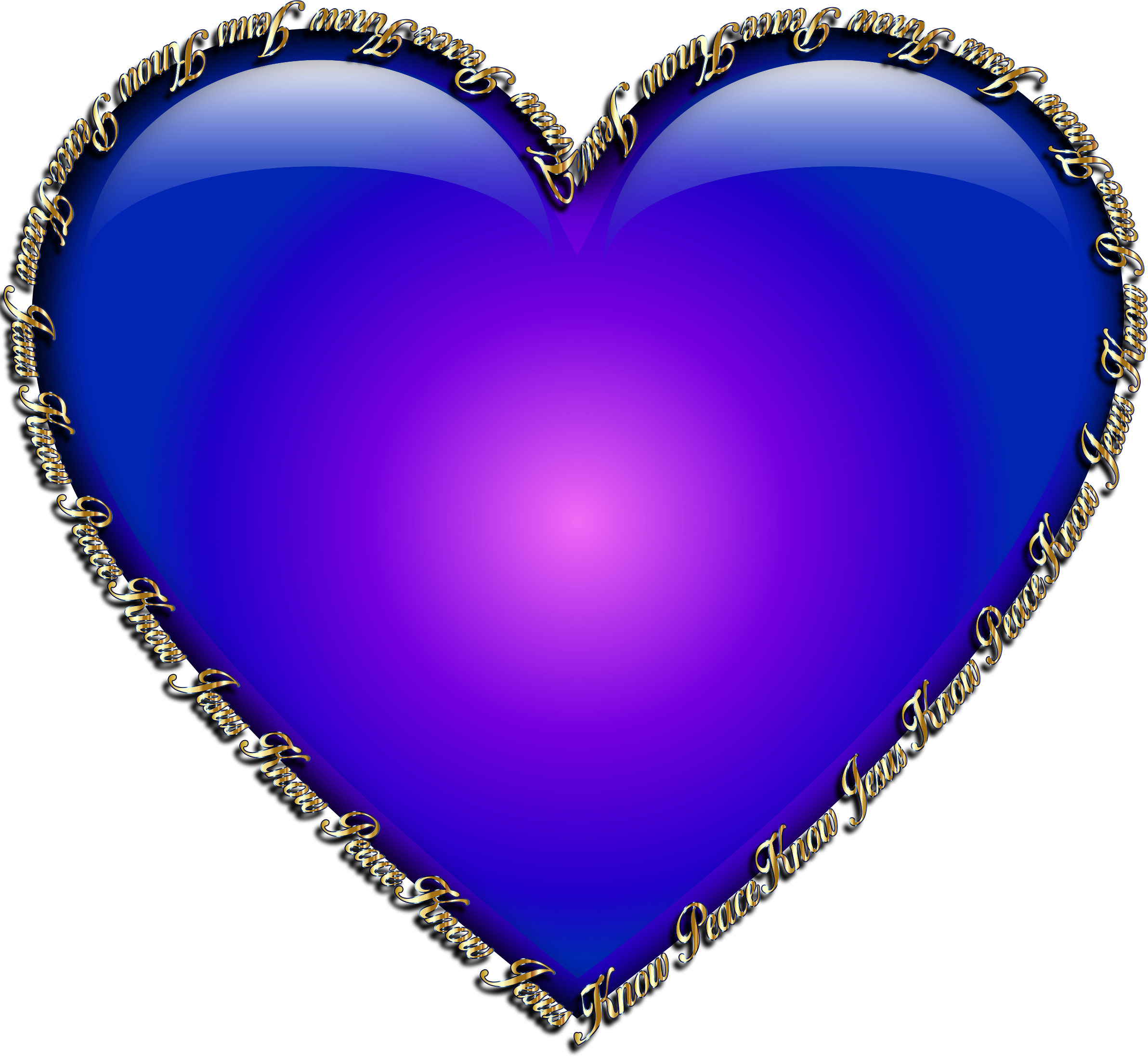 Royal blue heart clipart clip free stock Know Jesus Know Peace Heart Blue Icons PNG - Free PNG and Icons ... clip free stock