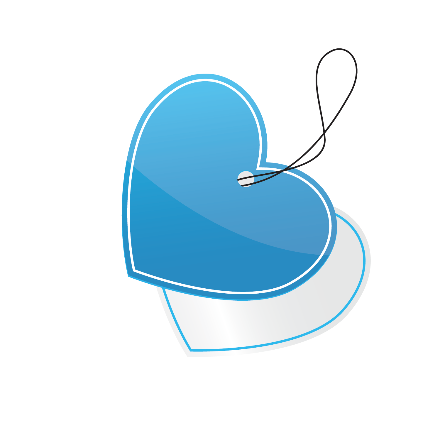 Vector blue heart-shaped tag template 1500*1500 transprent Png Free ... free library