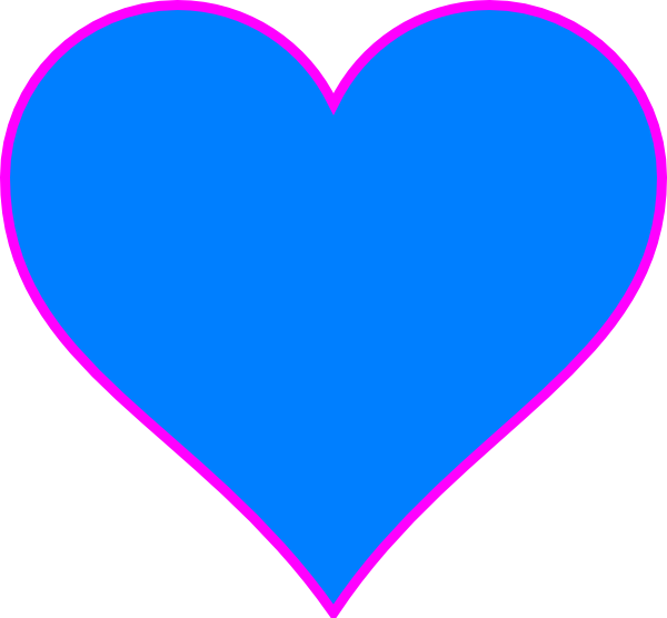 Blue Heart Clip Art at Clker.com - vector clip art online, royalty ... image black and white download