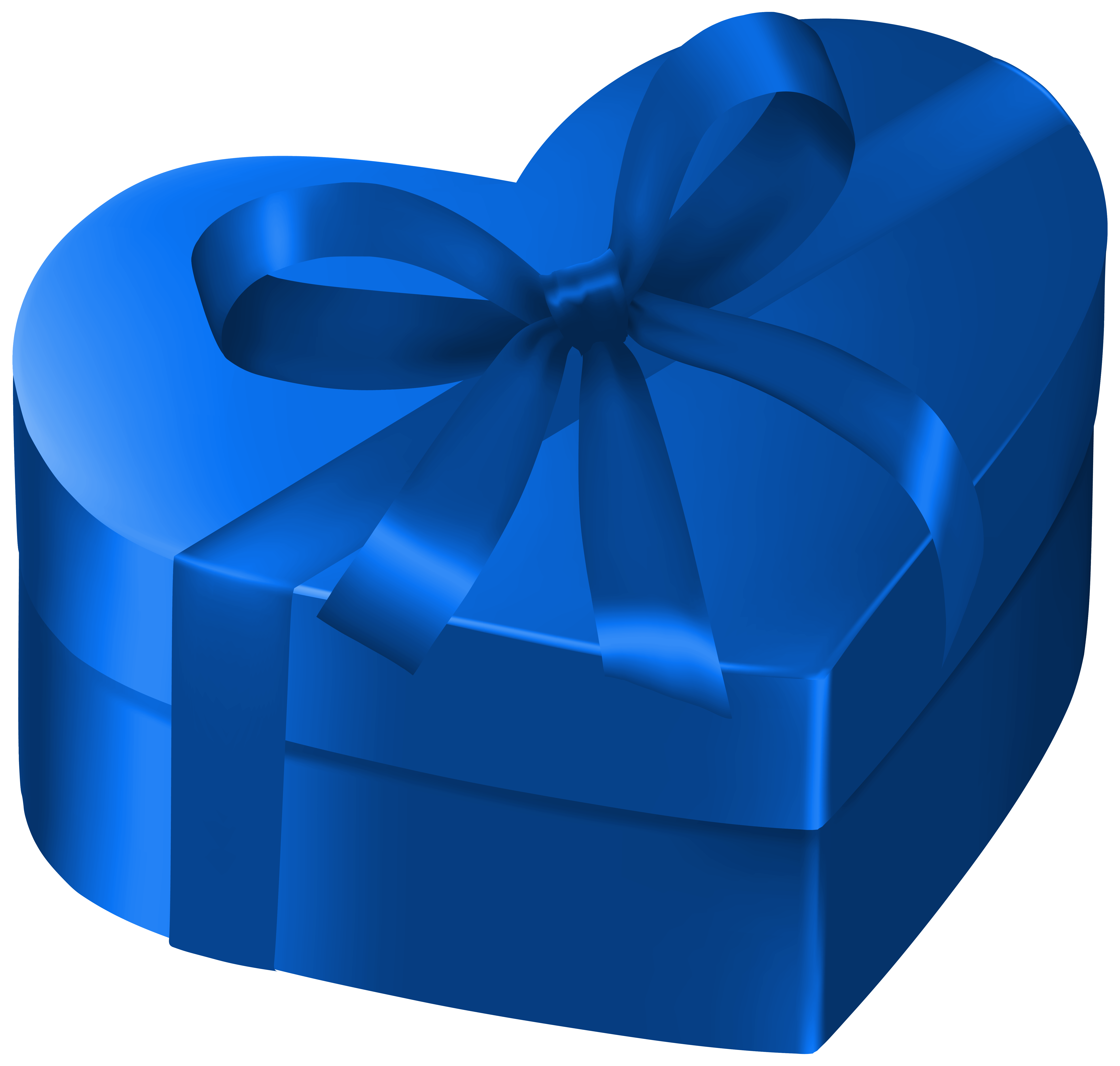 Gift heart clipart graphic black and white stock Blue Heart Gift Box PNG Clipart Image | Gallery Yopriceville - High ... graphic black and white stock
