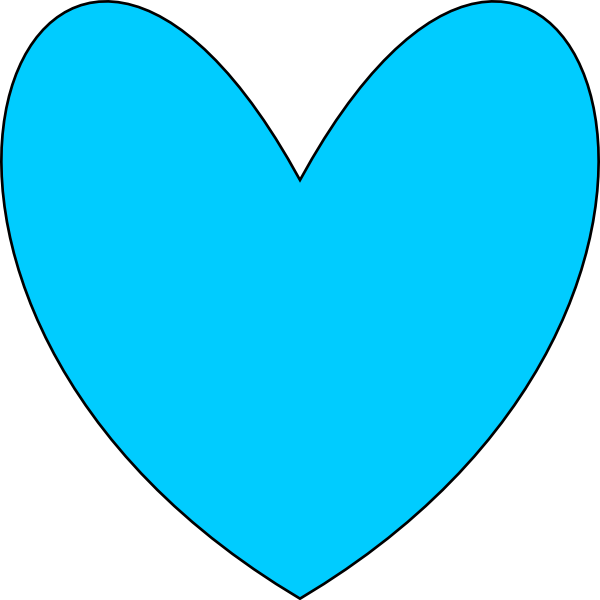 Teal heart clipart picture library library Blue Heart Clip Art at Clker.com - vector clip art online, royalty ... picture library library