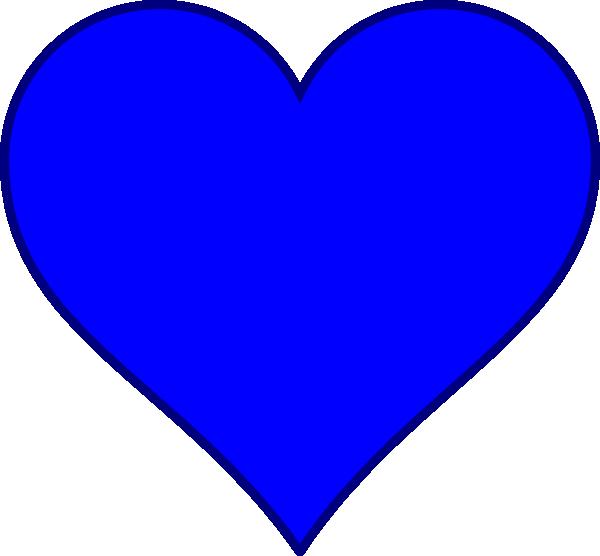 Blue heart clipart transparent jpg transparent download Blue Heart Clip Art at Clker.com - vector clip art online, royalty ... jpg transparent download