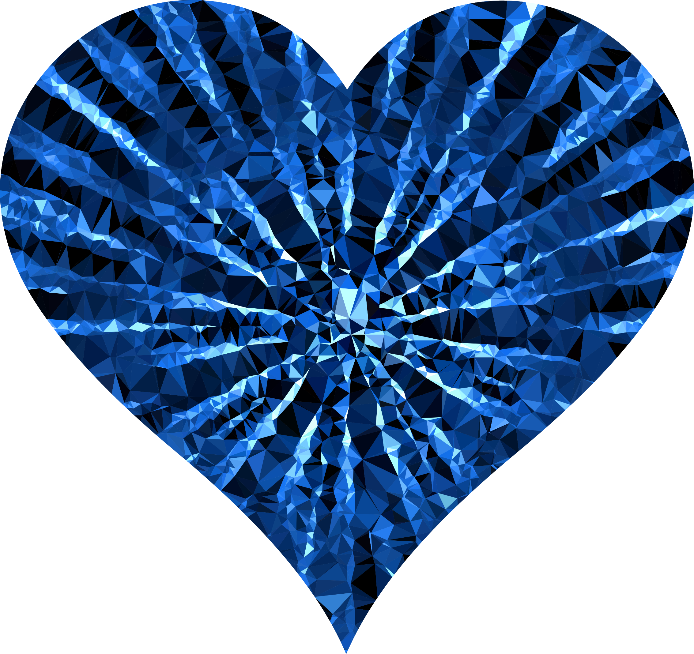 Blue heart clipart transparent png Clipart - Low Poly Shattered Heart Blue png