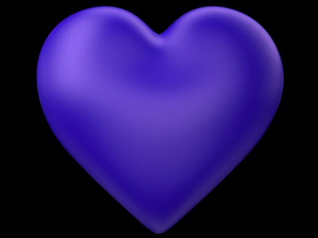 Blue heart clipart transparent vector Indigo | 3d-Indigo-Love-Heart-Transparent-Background.png | Hearts N ... vector