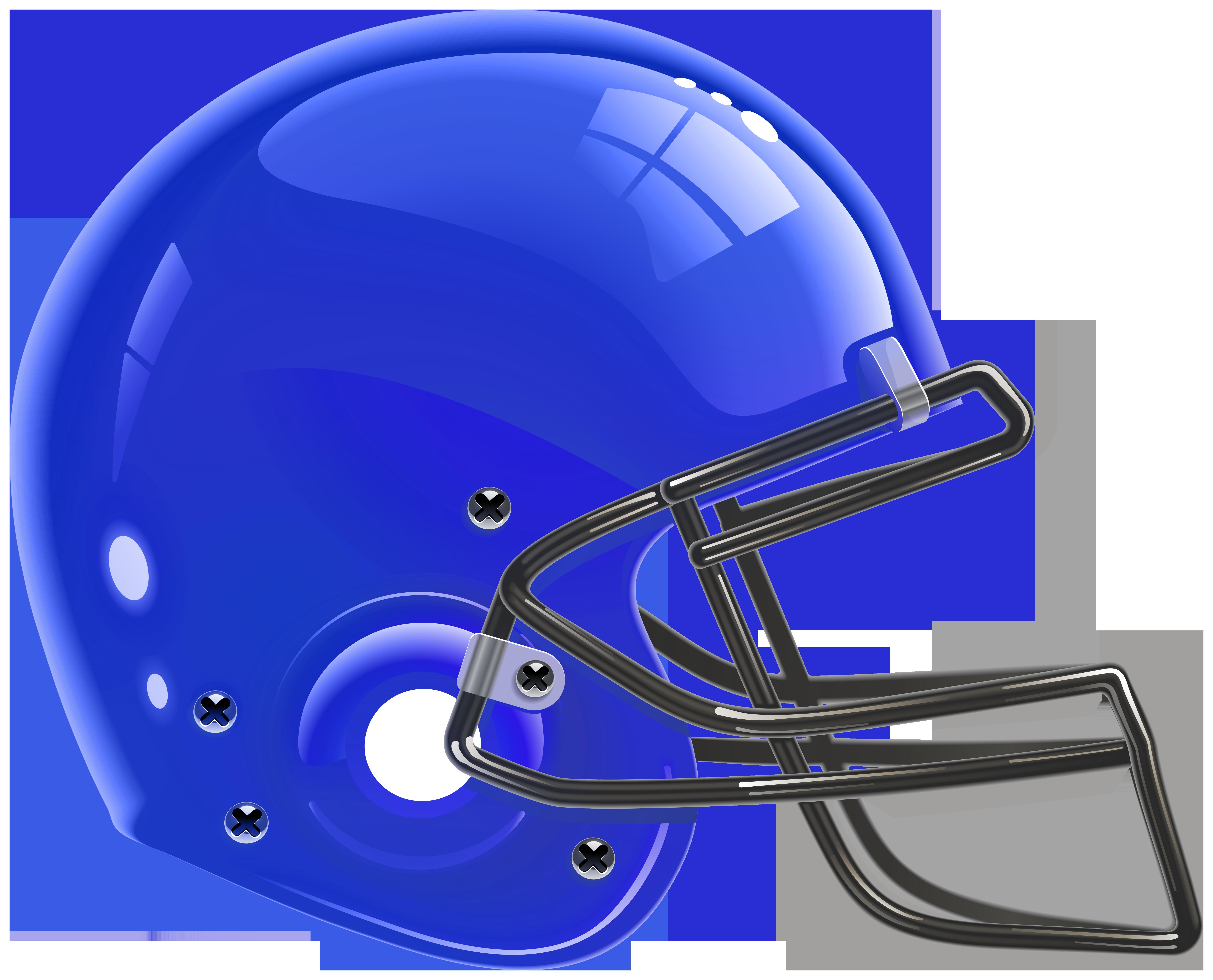 Blue helmet clipart black and white library Blue Football Helmet PNG Clip Art - Best WEB Clipart black and white library