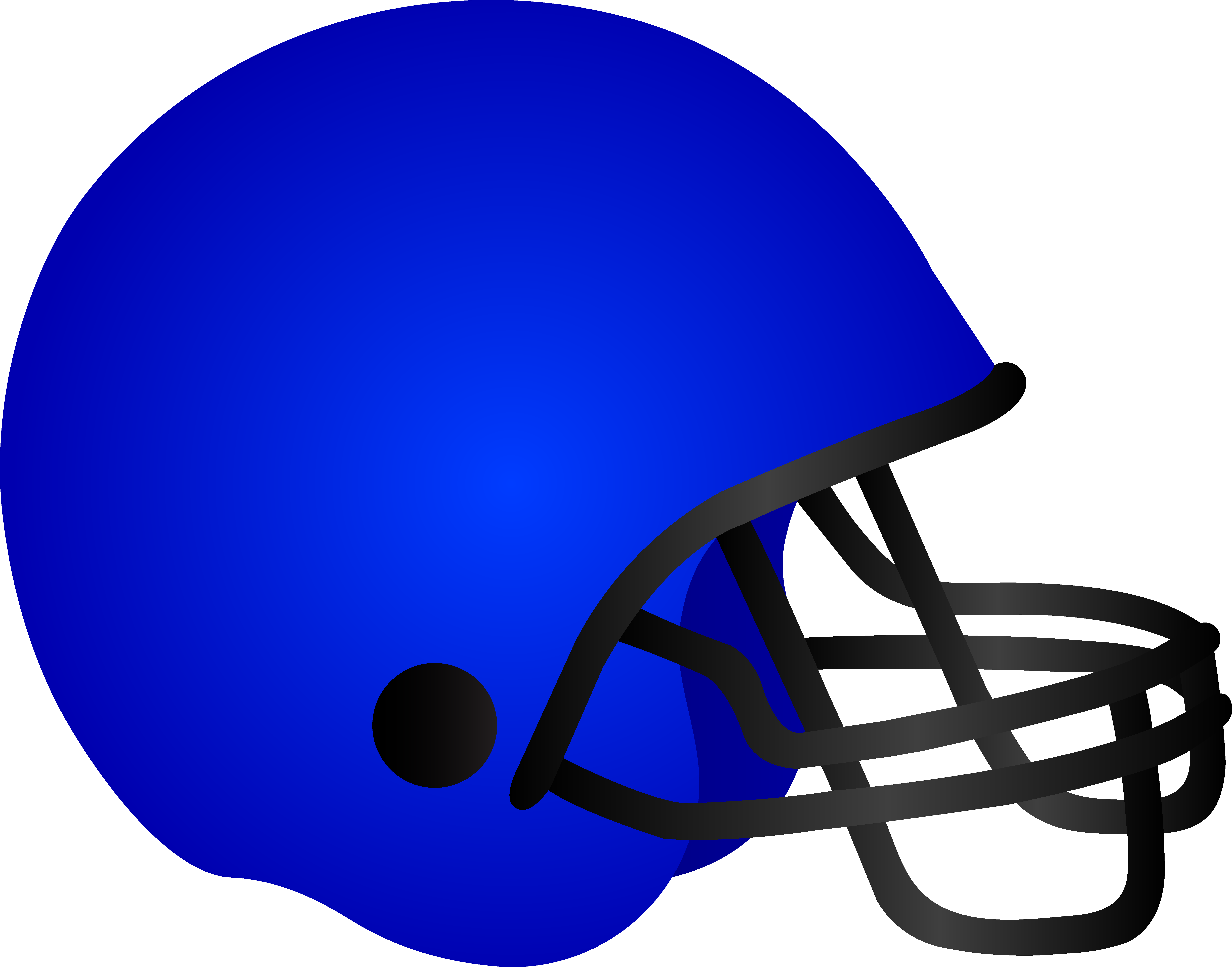 Blue helmet clipart clip library stock Blue Football Helmet - Free Clip Art clip library stock