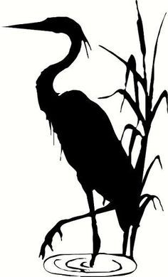 Blue heron silhouette clipart graphic freeuse stock Blue heron on Pinterest | Silhouette, You Left Me and Birds ... graphic freeuse stock