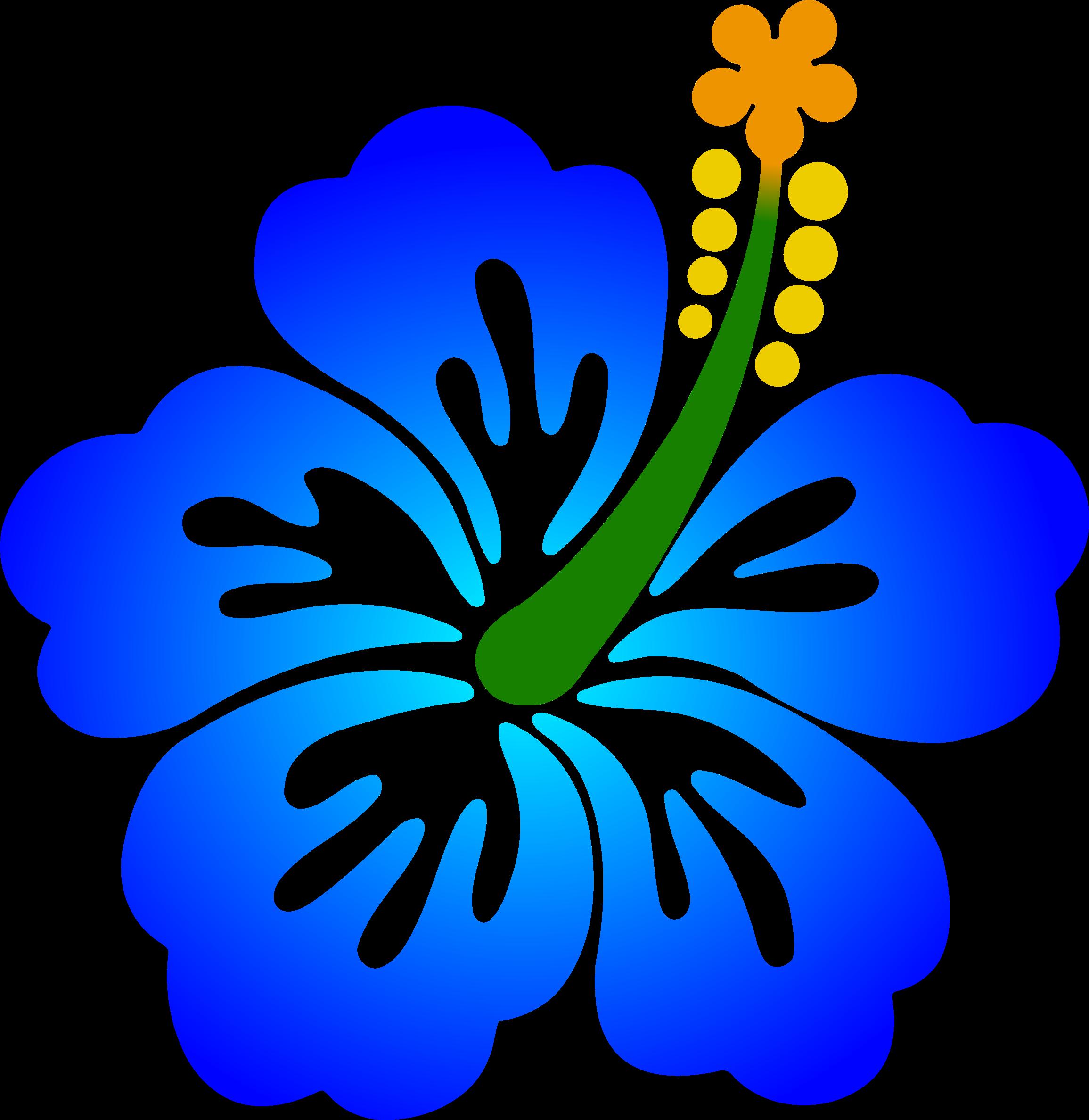 Blue hibiscus flower clipart clipart Clipart - Flower 178 (colour) clipart