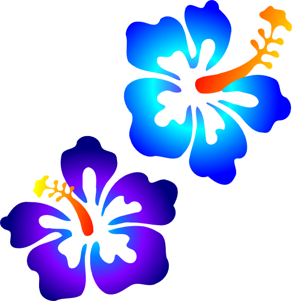 Blue hibiscus flower clipart banner transparent library Hibiscus Clip Art at Clker.com - vector clip art online, royalty ... banner transparent library