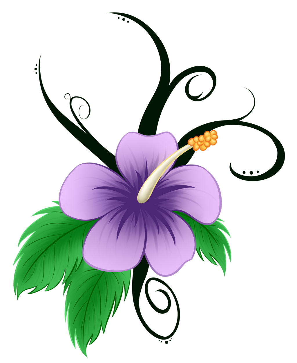Hawaiian clip art pin. Flower cartoon clipart