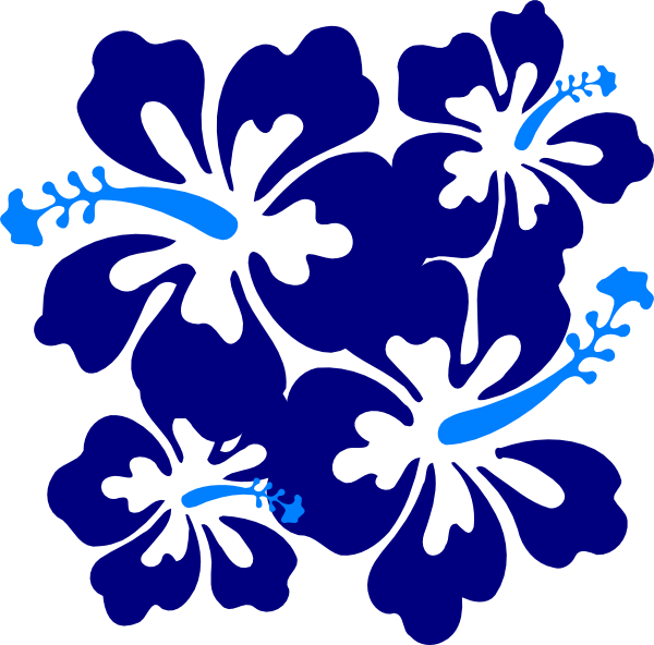 Blue hibiscus flower clipart graphic black and white stock Hibiscus Blue Clip Art at Clker.com - vector clip art online ... graphic black and white stock