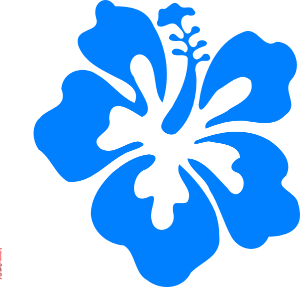 Blue hibiscus flower clipart black and white Blue Hibiscus Clip Art at Clker.com - vector clip art online ... black and white