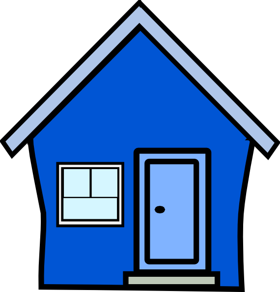 Blue house clipart png transparent library Blue House Clip Art at Clker.com - vector clip art online, royalty ... png transparent library